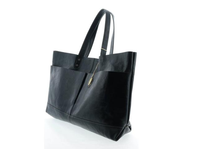Enzo Rossi (Enzo Rossi) / tote bag / tote bag / navy / leather /[BRANDOFF/ brand off]