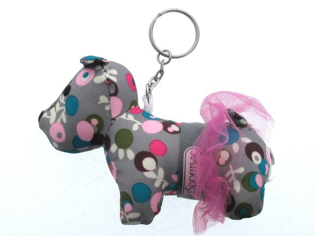Key ring dog dog dog dog / key ring / gray x multicolored / nylon /[BRANDOFF/ brand off with the LESPORTSAC (reply port case) / charm]