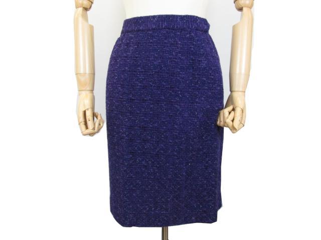 TAKEO NISHIDA (Takeo Nishida) / skirt suit / clothing / purple / rayon 45% wool 25% cotton 20% nylon 10%/[BRANDOFF/ brand off]