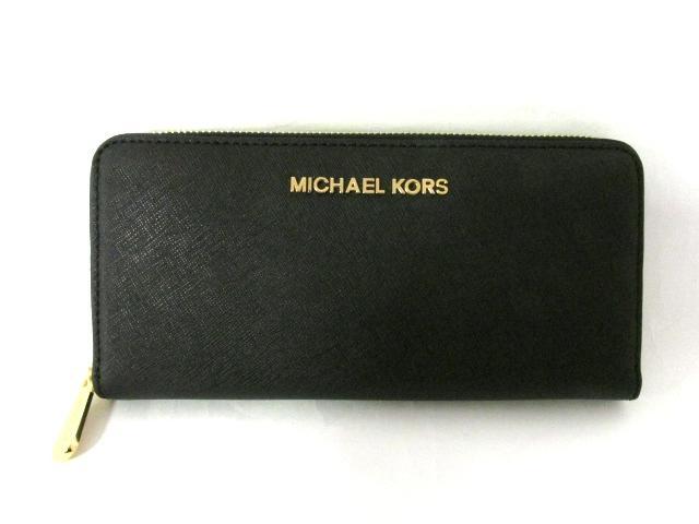 MICHAEL KORS(マイケルコース) ラウンド長財布 ブラック 牛革(カーフ) (32S3GTVE3L001)【新品】 | ブランドオフ BRANDOFF