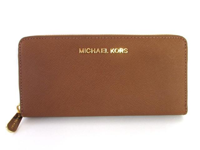 MICHAEL KORS(マイケルコース) ラウンド長財布 ブラウン 型押しレザー (32S3GTVE3L230)【新品】 | ブランドオフ BRANDOFF