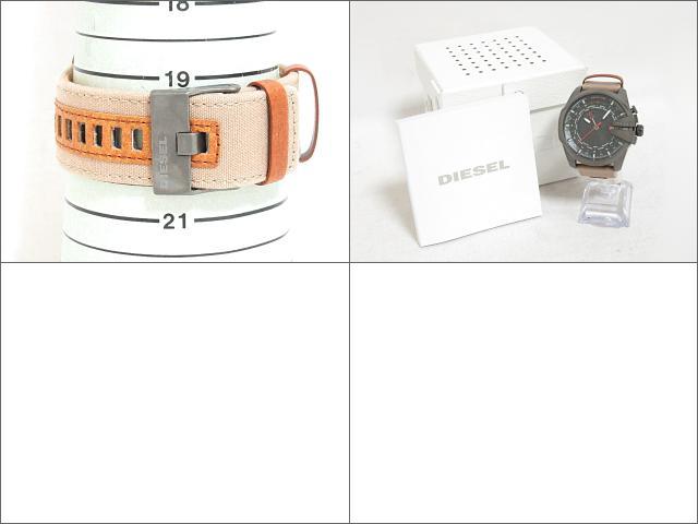 DIESEL (디젤)/MEGA CHIEF 시계/쿼 츠/블랙/스테인레스 스틸 (SS) x 캔버스 벨트/(DZ4306) [BRANDOFF/브랜드 선택]
