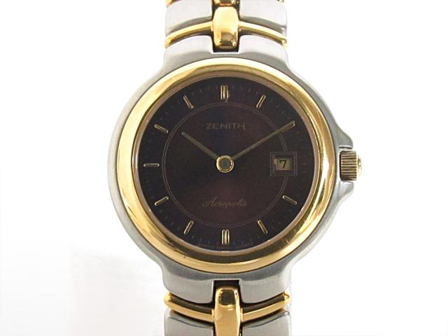 ZENITH(제니스)/아크로폴리스 손목시계 워치/쿼츠/퍼플/스테인레스 스틸(SS) xGP/(59.7000. 295)[BRANDOFF/브랜드 오프]