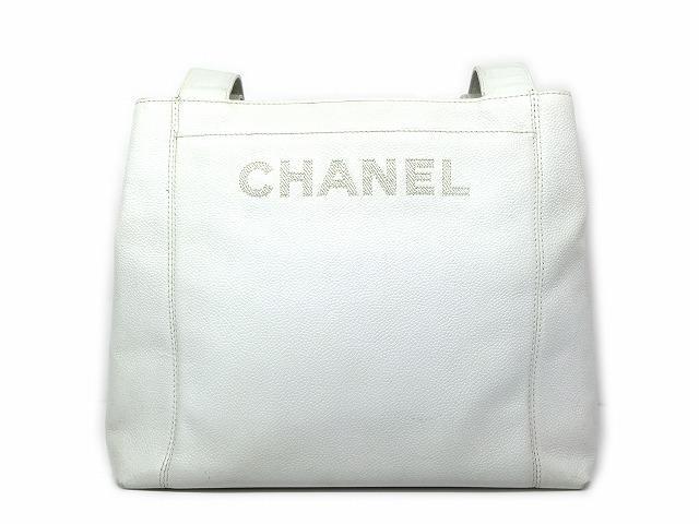 CHANEL(샤넬)/숄더백/숄더백/화이트/캐비어 스킨/브랜드 오프 생일 선물 어머니의 날 기프트