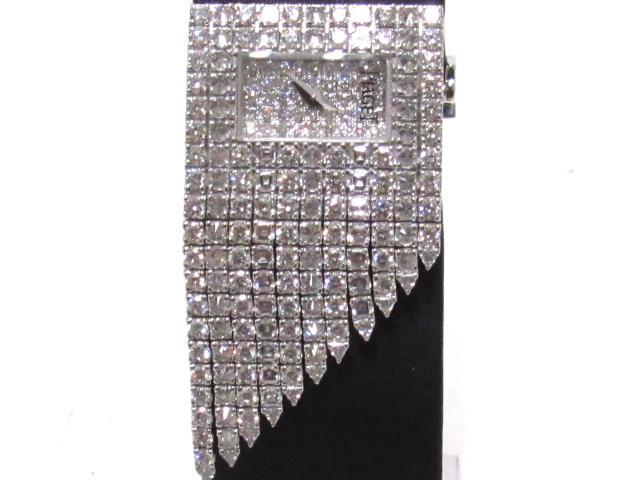 PIAGET(피아제)/레이디스 시계/오토매틱/실버/K18WG(750) 화이트 골드 다이아몬드 새틴/(P10278)[BRANDOFF/브랜드 오프]