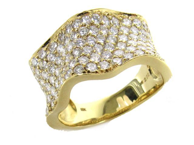 【中古】【送料無料】JEWELRY(ジュエリー) ダイヤモンド リング 指輪 リング K18YG(750) イエローゴールド x ダイヤモンド(2.02ct) 13号   JEWELRY リング ダイヤ ダイヤモンドリング リング K18 18K 18金 ブランドオフ BRANDOFF 美品 ボーナス