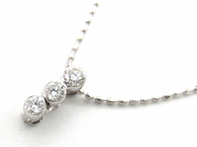 【送料無料】 JEWELRY(ジュエリー) 3Pダイヤモンド ネックレス ネックレス K18WG(750) ホワイトゴールド x ダイヤモンド0.15ct 【新品】 | JEWELRY ネックレス K18 18K 18金 ダイヤ ダイヤモンド 新品 ブランドオフ BRANDOFF ボーナス