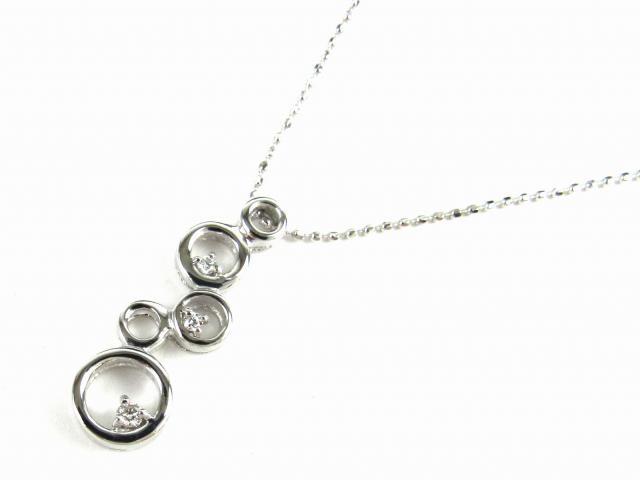【送料無料】 JEWELRY(ジュエリー) ダイヤモンド ネックレス ネックレス K18WG(750) ホワイトゴールド x ダイヤモンド0.04ct 【新品】 | JEWELRY ネックレス K18 18K 18金 ダイヤ ダイヤモンド 新品 ブランドオフ BRANDOFF ボーナス