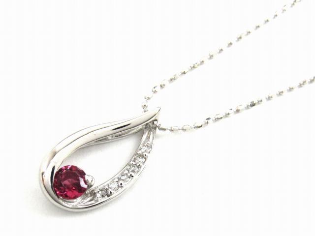 【送料無料】 JEWELRY(ジュエリー) ピンクトルマリン ダイヤモンド ネックレス ネックレス K18WG(750) ホワイトゴールド x ピンクトルマリン x ダイヤモンド0.04ct 【新品】 | JEWELRY ネックレス K18 18K 18金 ダイヤ ダイヤモンド 新品 ブランドオフ BRANDOFF ボーナス