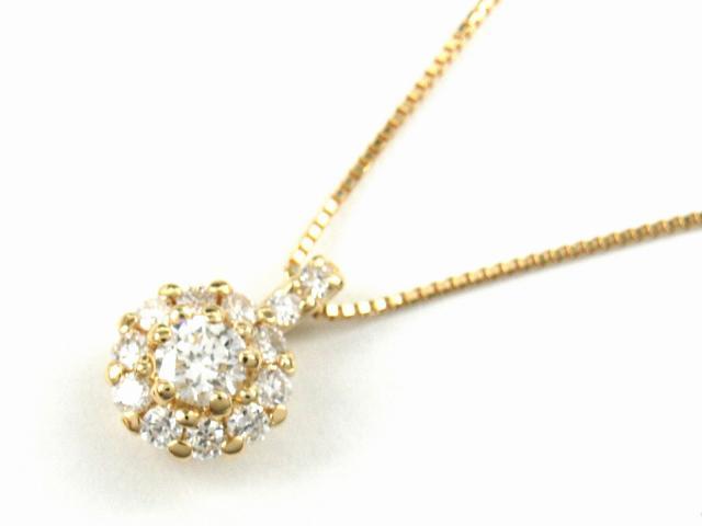 【送料無料】 JEWELRY(ジュエリー) ダイヤモンド ネックレス ネックレス K18YG(750) イエローゴールド x ダイヤモンド0.30ct 【新品】 | JEWELRY ネックレス K18 18K 18金 ダイヤ ダイヤモンド 新品 ブランドオフ BRANDOFF ボーナス