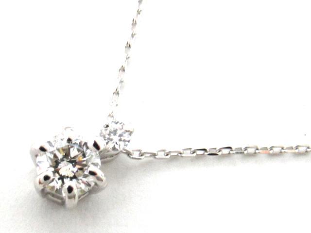 【送料無料】 JEWELRY(ジュエリー) 一粒 ダイヤモンド ネックレス ネックレス K18WG(750) ホワイトゴールド x ダイヤモンド0.20ct 【新品】 | JEWELRY ネックレス K18 18K 18金 ダイヤ ダイヤモンド 新品 ブランドオフ BRANDOFF ボーナス