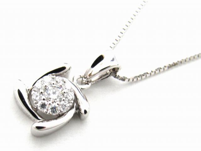 【送料無料】 JEWELRY(ジュエリー) ダイヤモンド ネックレス ネックレス K18WG(750) ホワイトゴールド x ダイヤモンド0.14ct 【新品】   JEWELRY ネックレス K18 18K 18金 ダイヤ ダイヤモンド 新品 ブランドオフ BRANDOFF ボーナス