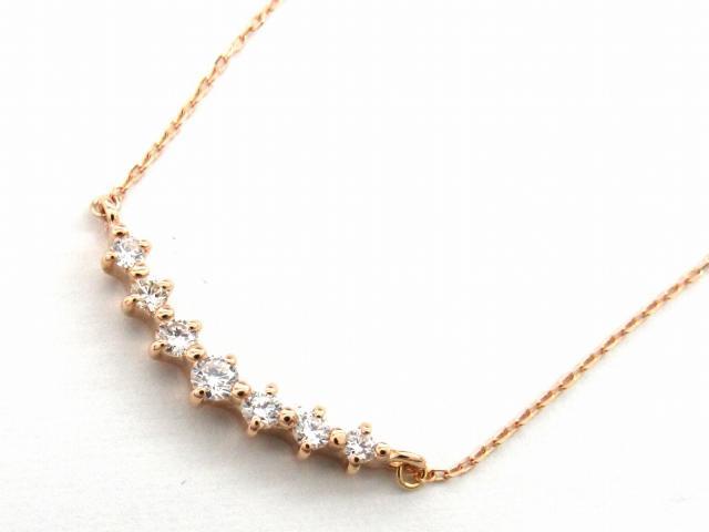 【送料無料】 JEWELRY(ジュエリー) ダイヤモンド ネックレス ネックレス K18PG(750) ピンクゴールド x ダイヤモンド0.20ct 【新品】 | JEWELRY ネックレス K18 18K 18金 ダイヤ ダイヤモンド 新品 ブランドオフ BRANDOFF ボーナス