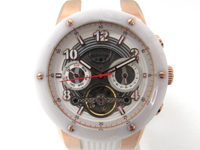 SONNE(ゾンネ) ゾンネ 腕時計 ブラック ステンレススチール(SS) x ウレタンラバー 【新品】(H017PGWH)【新品】 | ブランドオフ BRANDOFF
