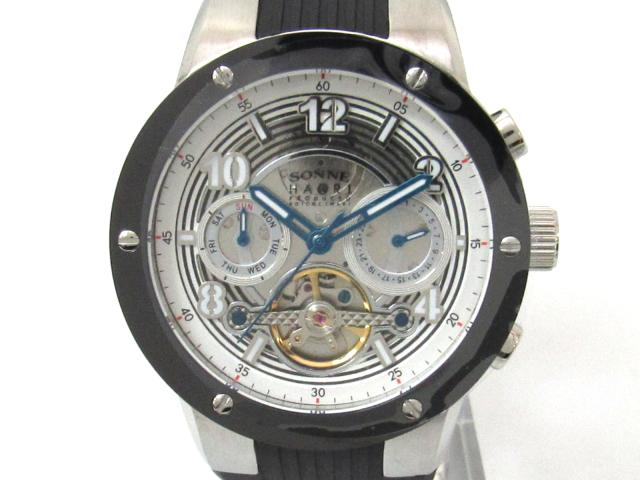 SONNE(ゾンネ) ゾンネ 腕時計 ブラック ステンレススチール(SS) x ウレタンラバー 【新品】(H017SSBK)【新品】 | ブランドオフ BRANDOFF