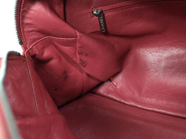 CHANEL(香奈尔)/体育线宽底旅行皮包/宽底旅行皮包/粉红棕色/鱼子酱皮肤/[BRANDOFF/名牌断开]
