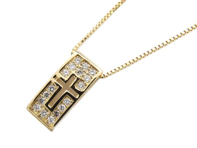 【中古】【送料無料】JEWELRY(ジュエリー) ダイヤモンド ネックレス ネックレス K18YG(750) イエローゴールド x ダイヤモンド(0.23ct) | JEWELRY ネックレス ダイヤ ダイヤモンドネックレス ネックレス K18 18K 18金 ブランドオフ BRANDOFF 美品 ボーナス
