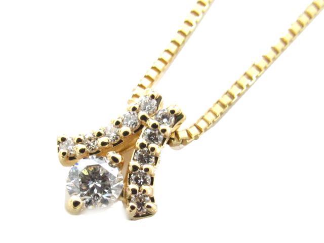 【中古】【送料無料】JEWELRY(ジュエリー) ダイヤモンド ネックレス ネックレス K18YG(750) イエローゴールド x ダイヤモンド(0.20ct) | JEWELRY ネックレス ダイヤ ダイヤモンドネックレス ネックレス K18 18K 18金 ブランドオフ BRANDOFF 美品 ボーナス