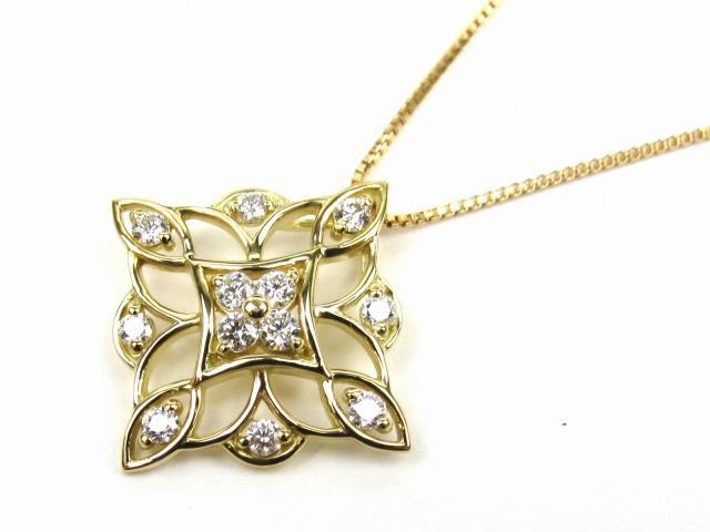 【中古】【送料無料】JEWELRY(ジュエリー) ダイヤモンド ネックレス ネックレス K18YG(750) イエローゴールド x ダイヤモンド0.22ct | JEWELRY ネックレス ダイヤ ダイヤモンドネックレス ネックレス K18 18K 18金 ブランドオフ BRANDOFF 美品 ボーナス