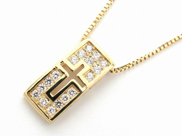 【中古】【送料無料】JEWELRY(ジュエリー) ダイヤモンド ネックレス ネックレス K18YG(750) イエローゴールド x ダイヤモンド0.23ct | JEWELRY ネックレス ダイヤ ダイヤモンドネックレス ネックレス K18 18K 18金 ブランドオフ BRANDOFF 美品 ボーナス