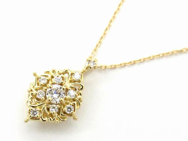 【中古】【送料無料】JEWELRY(ジュエリー) ダイヤモンド ネックレス ネックレス K18YG(750) イエローゴールド x ダイヤモンド0.16ct | JEWELRY ネックレス ダイヤ ダイヤモンドネックレス ネックレス K18 18K 18金 ブランドオフ BRANDOFF 美品 ボーナス