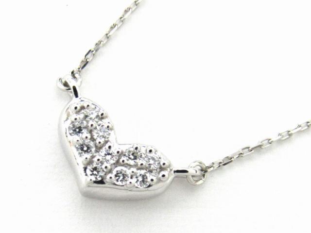 【中古】【送料無料】JEWELRY(ジュエリー) ダイヤモンド ネックレス ネックレス PT900 プラチナ x PT850 プラチナ x ダイヤモンド0.047ct | JEWELRY ネックレス ダイヤ ダイヤモンドネックレス ネックレス ブランドオフ BRANDOFF 美品 ボーナス