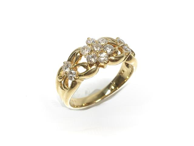 【中古】【送料無料】JEWELRY(ジュエリー) ダイヤモンドリング 指輪 リング K18YG(750) イエローゴールドxダイヤモンド0.6ct 12号   JEWELRY リング ダイヤ ダイヤモンドリング リング K18YG 0.6ct/4.8g/#12 K18 18K 18金 ブランドオフ BRANDOFF 美品 ボーナス