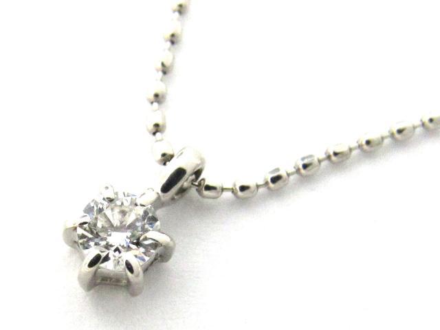 【送料無料】 JEWELRY(ジュエリー) 一粒 ダイヤモンド ネックレス ネックレス PT900 プラチナ x PT850 プラチナ x ダイヤモンド0.11ct 【新品】 | JEWELRY ネックレス ダイヤ ダイヤモンド 新品 ブランドオフ BRANDOFF ボーナス