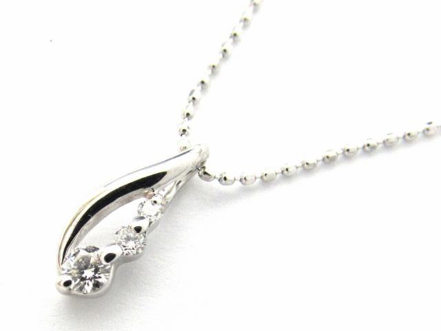 【送料無料】 JEWELRY(ジュエリー) ダイヤモンド ネックレス ネックレス K18WG(750) ホワイトゴールド x ダイヤモンド0.11ct 【新品】 | JEWELRY ネックレス K18 18K 18金 ダイヤ ダイヤモンド 新品 ブランドオフ BRANDOFF ボーナス