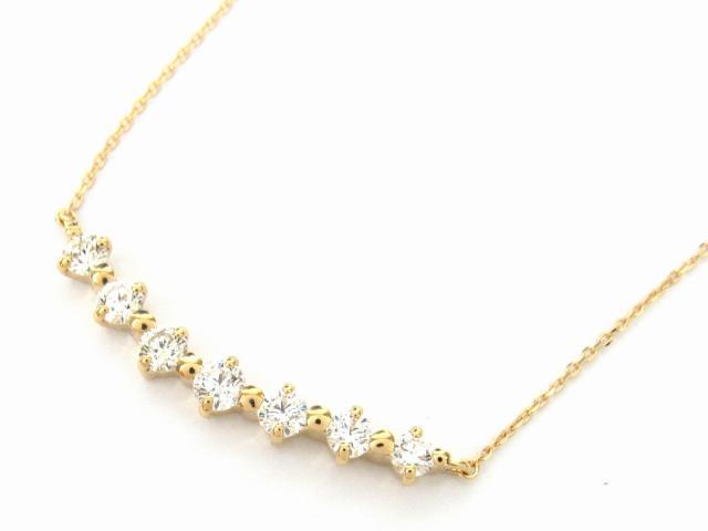 【送料無料】 JEWELRY(ジュエリー) ダイヤモンド ネックレス ネックレス K18YG(750) イエローゴールド x ダイヤモンド1.00ct 【新品】 | JEWELRY ネックレス K18 18K 18金 ダイヤ ダイヤモンド 新品 ブランドオフ BRANDOFF ボーナス