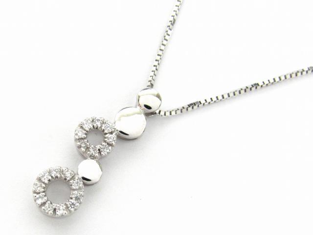 【送料無料】 JEWELRY(ジュエリー) ダイヤモンド ネックレス ネックレス K18WG(750) ホワイトゴールド x ダイヤモンド0.13ct 【新品】 | JEWELRY ネックレス K18 18K 18金 ダイヤ ダイヤモンド 新品 ブランドオフ BRANDOFF ボーナス