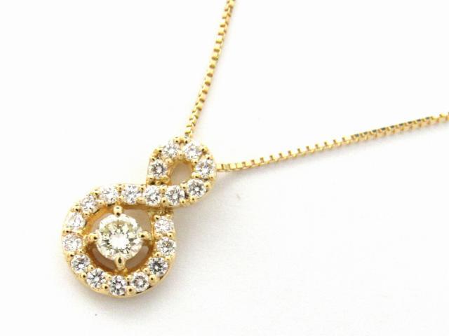 18K JEWELRY BRANDOFF ネックレス | 新品 18金 x 【新品】 【送料無料】 ネックレス ダイヤモンド ダイヤモンド0.35ct ネックレス K18 ブランドオフ JEWELRY(ジュエリー) ダイヤ イエローゴールド K18YG(750) ダイヤモンド ボーナス