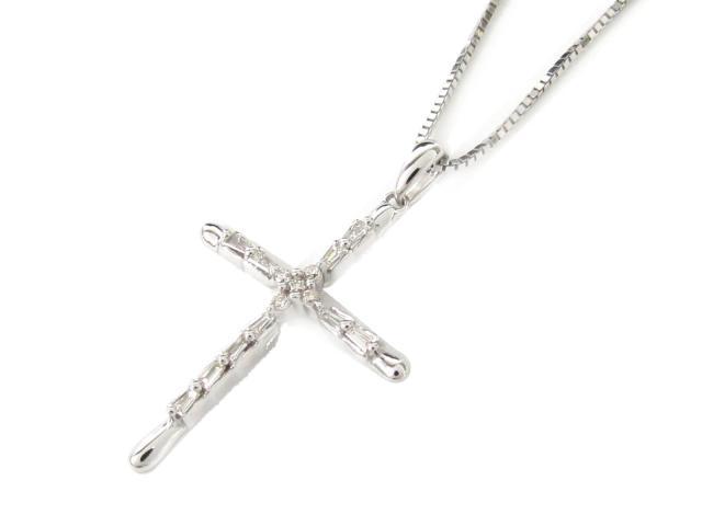 【送料無料】 JEWELRY(ジュエリー) クロス ダイヤモンド ネックレス ネックレス K18WG(750) ホワイトゴールド x ダイヤモンド(0.15ct) 【新品】   JEWELRY ネックレス K18 18K 18金 ダイヤ ダイヤモンド 新品 ブランドオフ BRANDOFF ボーナス