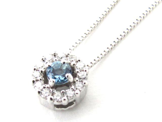 【送料無料】 JEWELRY(ジュエリー) アクアマリン ダイヤモンド ネックレス ネックレス K18WG(750) ホワイトゴールド x アクアマリン x ダイヤモンド(0.13ct) 【新品】 | JEWELRY ネックレス K18 18K 18金 ダイヤ ダイヤモンド 新品 ブランドオフ BRANDOFF ボーナス