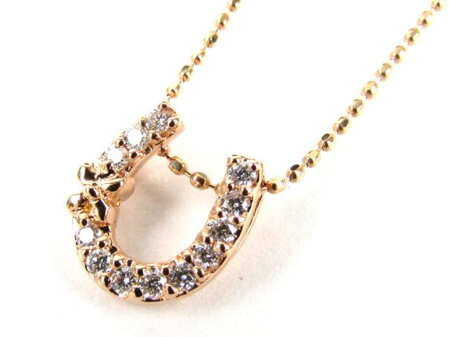 【送料無料】 JEWELRY(ジュエリー) ダイヤモンド ネックレス ネックレス K18PG(750) ピンクゴールド x ダイヤモンド(0.10ct) 【新品】 | JEWELRY ネックレス K18 18K 18金 ダイヤ ダイヤモンド 新品 ブランドオフ BRANDOFF ボーナス