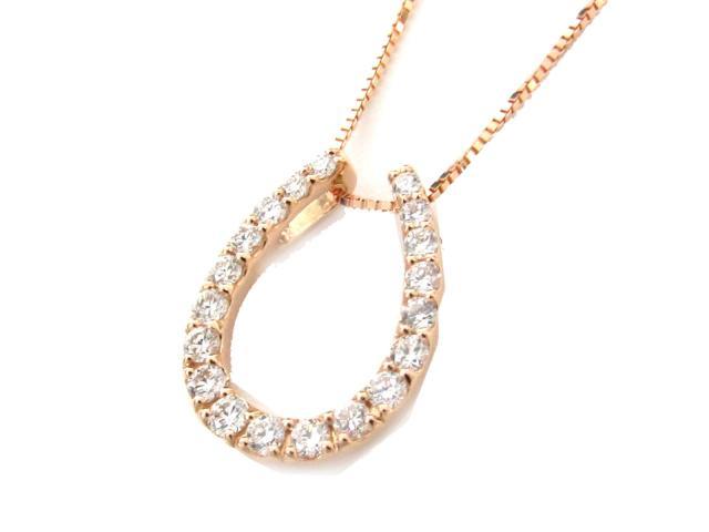 18金 JEWELRY(ジュエリー) ダイヤモンド(0.30ct) ブランドオフ ネックレス ネックレス 18K ダイヤ 【送料無料】 ピンクゴールド 【新品】 K18PG(750) x K18 ダイヤモンド BRANDOFF | 新品 ネックレス JEWELRY ボーナス ダイヤモンド