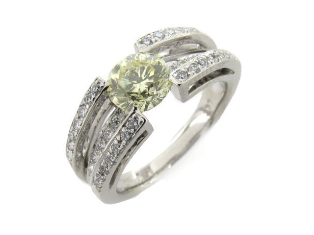 【中古】【送料無料】JEWELRY(ジュエリー) ダイヤモンド リング 指輪 リング ライトイエロー PT900 プラチナ x ダイヤモンド(1.101ct 0.36ct) 12.5号 | JEWELRY リング ダイヤ ダイヤモンドリング リング ブランドオフ BRANDOFF 美品 ボーナス