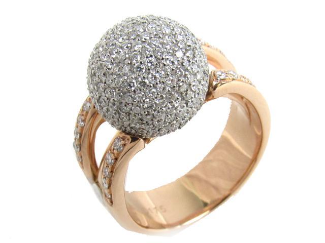 【中古】【送料無料】JEWELRY(ジュエリー) ダイヤモンド リング 指輪 リング クリアー K18WG(750) ホワイトゴールド x K18PG(750) ピンクーゴールド x ダイヤモンド(1.75ct) 13号 | JEWELRY リング ダイヤ ダイヤモンドリング リング K18 18K 18金 ブランドオフ BRANDOFF