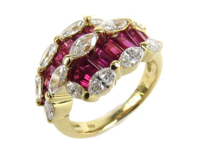 【中古】【送料無料】JEWELRY(ジュエリー) ルビー ダイヤモンド リング 指輪 リング レッド K18YG(750) イエローゴールド x ルビー(1.80ct) x ダイヤモンド(1.40ct) 10.5号 | JEWELRY リング ダイヤ ダイヤモンドリング リング K18 18K 18金 ブランドオフ BRANDOFF