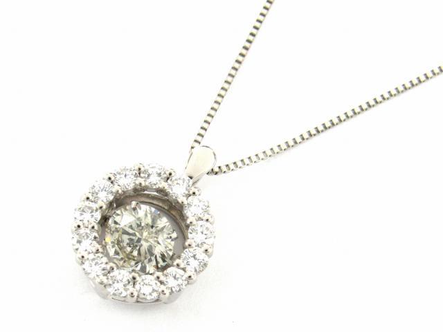 【中古】【送料無料】JEWELRY(ジュエリー) ダイヤモンド ネックレス ネックレス クリアー PT900 プラチナ x Pt850 プラチナ x ダイヤモンド(1.013ct 0.70ct)   JEWELRY ネックレス ブランドオフ BRANDOFF