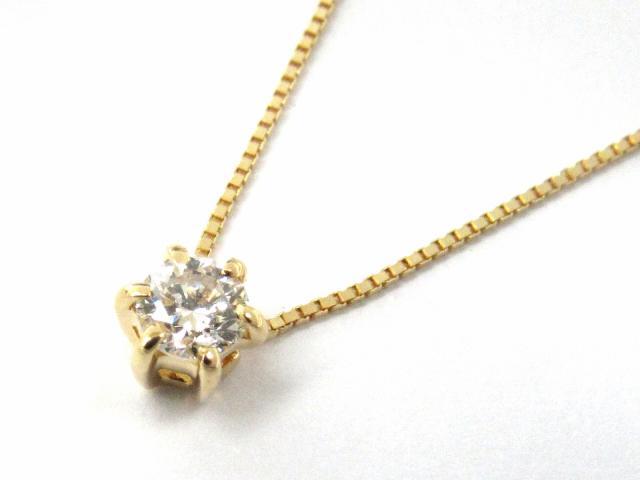 【送料無料】 JEWELRY(ジュエリー) 一粒 ダイヤモンド ネックレス ネックレス K18YG(750) イエローゴールド x ダイヤモンド0.17ct 【新品】 | JEWELRY ネックレス K18 18K 18金 ダイヤ ダイヤモンド 新品 ブランドオフ BRANDOFF ボーナス