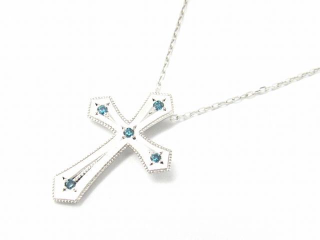 【送料無料】 JEWELRY(ジュエリー) クロス ダイヤモンド ネックレス ネックレス K18WG(750) ホワイトゴールド x ダイヤモンド0.07ct 【新品】 | JEWELRY ネックレス K18 18K 18金 ダイヤ ダイヤモンド 新品 ブランドオフ BRANDOFF ボーナス