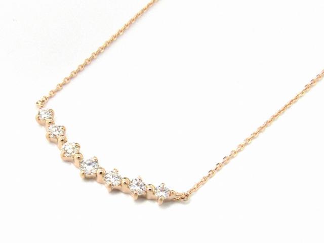 【送料無料】 JEWELRY(ジュエリー) ダイヤモンド ネックレス ネックレス K18PG(750) ピンクゴールド x ダイヤモンド0.51ct 【新品】 | JEWELRY ネックレス K18 18K 18金 ダイヤ ダイヤモンド 新品 ブランドオフ BRANDOFF ボーナス