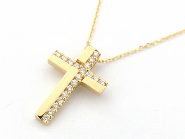 【送料無料】 JEWELRY(ジュエリー) クロス ダイヤモンド ネックレス ネックレス K18YG(750) イエローゴールド x ダイヤモンド0.11ct 【新品】 | JEWELRY ネックレス K18 18K 18金 ダイヤ ダイヤモンド 新品 ブランドオフ BRANDOFF ボーナス