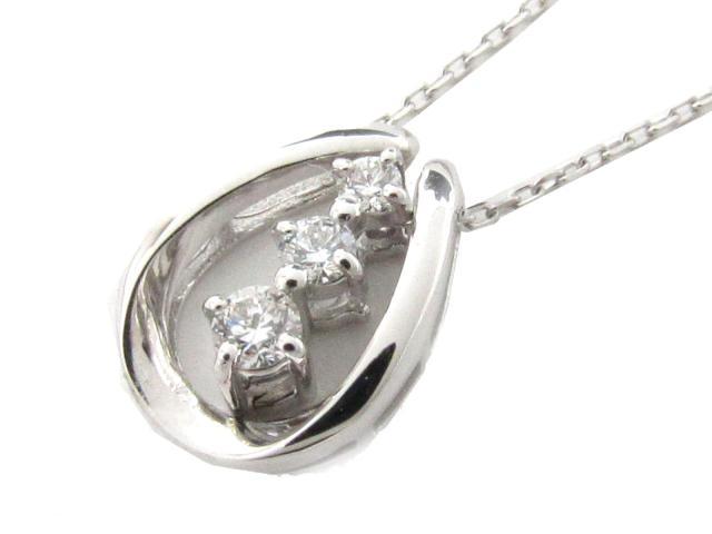 【送料無料】 JEWELRY(ジュエリー) ダイヤモンド ネックレス ネックレス K18WG(750) ホワイトゴールド x ダイヤモンド(0.10ct) 【新品】 | JEWELRY ネックレス K18 18K 18金 ダイヤ ダイヤモンド 新品 ブランドオフ BRANDOFF ボーナス
