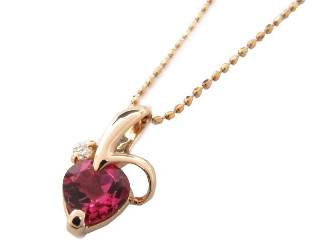 【送料無料】 JEWELRY(ジュエリー) トルマリン ダイヤモンド ネックレス ネックレス K18PG(750) ピンクゴールド x トルマリン x ダイヤモンド(0.02ct) 【新品】 | JEWELRY ネックレス K18 18K 18金 ダイヤ ダイヤモンド 新品 ブランドオフ BRANDOFF ボーナス