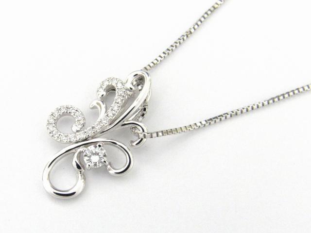 【送料無料】 JEWELRY(ジュエリー) ダイヤモンド ネックレス ネックレス K18WG(750) ホワイトゴールド x ダイヤモンド0.24ct 【新品】 | JEWELRY ネックレス K18 18K 18金 ダイヤ ダイヤモンド 新品 ブランドオフ BRANDOFF ボーナス