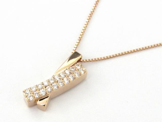 【新品】 ネックレス 18金 ダイヤモンド0.17ct ダイヤモンド 新品 ダイヤモンド ピンクゴールド BRANDOFF ダイヤ JEWELRY K18 x ブランドオフ K18PG(750) | ボーナス 18K ネックレス 【送料無料】 JEWELRY(ジュエリー) ネックレス