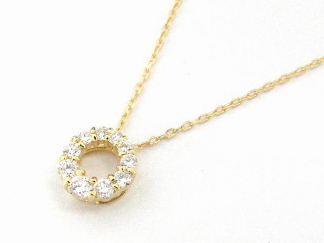 【送料無料】 JEWELRY(ジュエリー) ダイヤモンド ネックレス ネックレス K18YG(750) イエローゴールド x ダイヤモンド0.14ct 【新品】 | JEWELRY ネックレス K18 18K 18金 ダイヤ ダイヤモンド 新品 ブランドオフ BRANDOFF ボーナス
