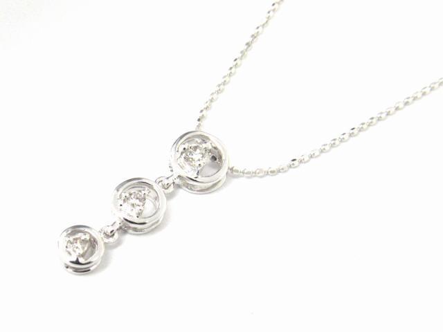 【送料無料】 JEWELRY(ジュエリー) ダイヤモンド ネックレス ネックレス K18WG(750) ホワイトゴールド x ダイヤモンド0.10ct 【新品】 | JEWELRY ネックレス K18 18K 18金 ダイヤ ダイヤモンド 新品 ブランドオフ BRANDOFF ボーナス